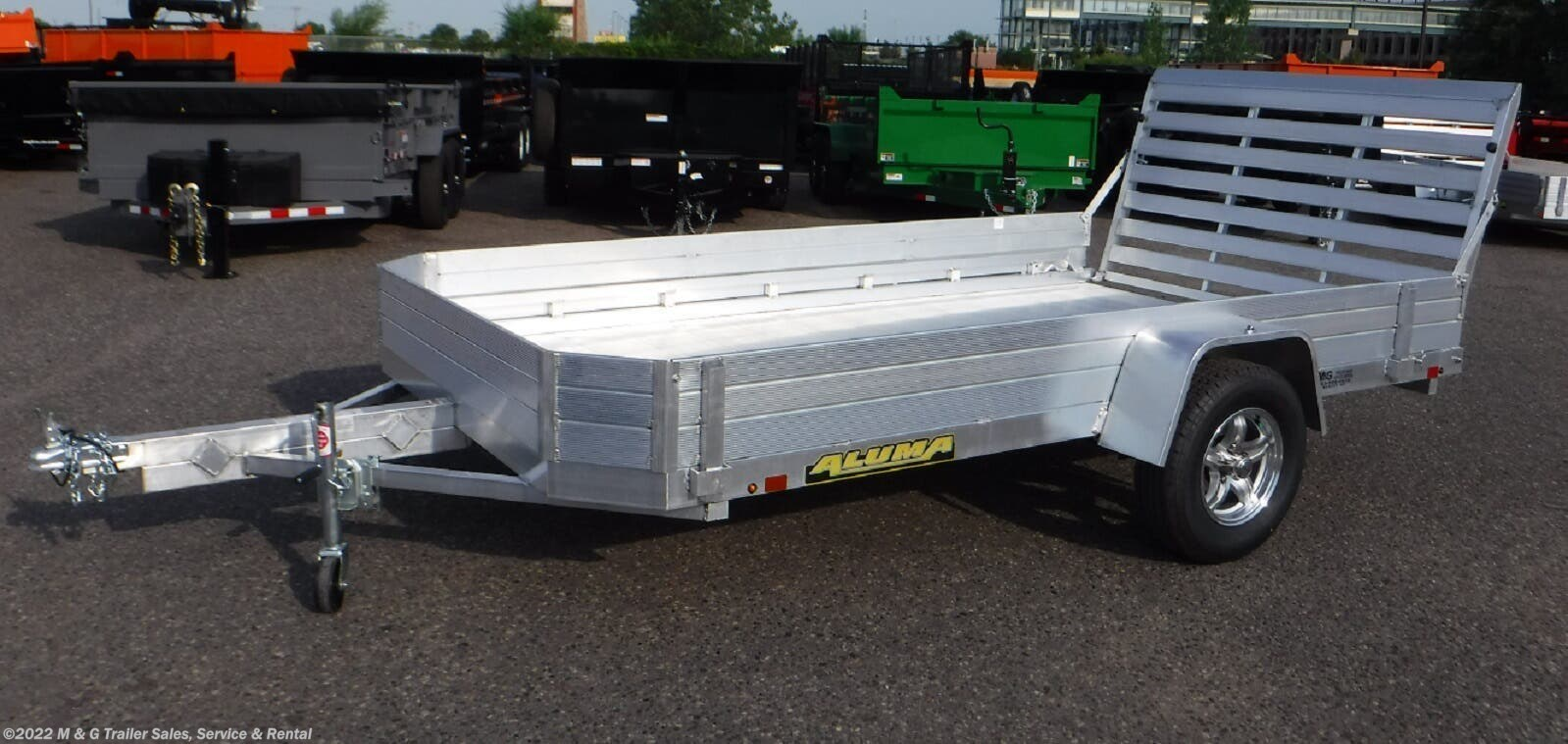 2022 Aluma 7712H Aluminum Utility Trailer - Stock #230338