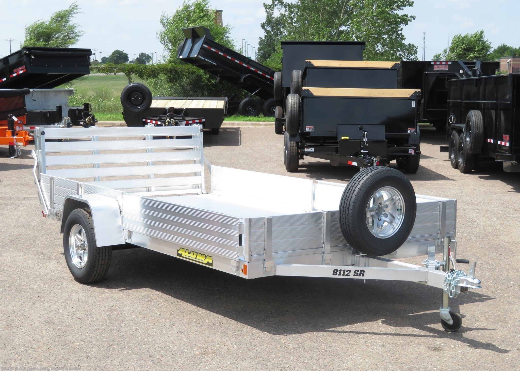2022 Aluma 8112 SR Aluminum ATV/Utility Trailer - Stock #230123