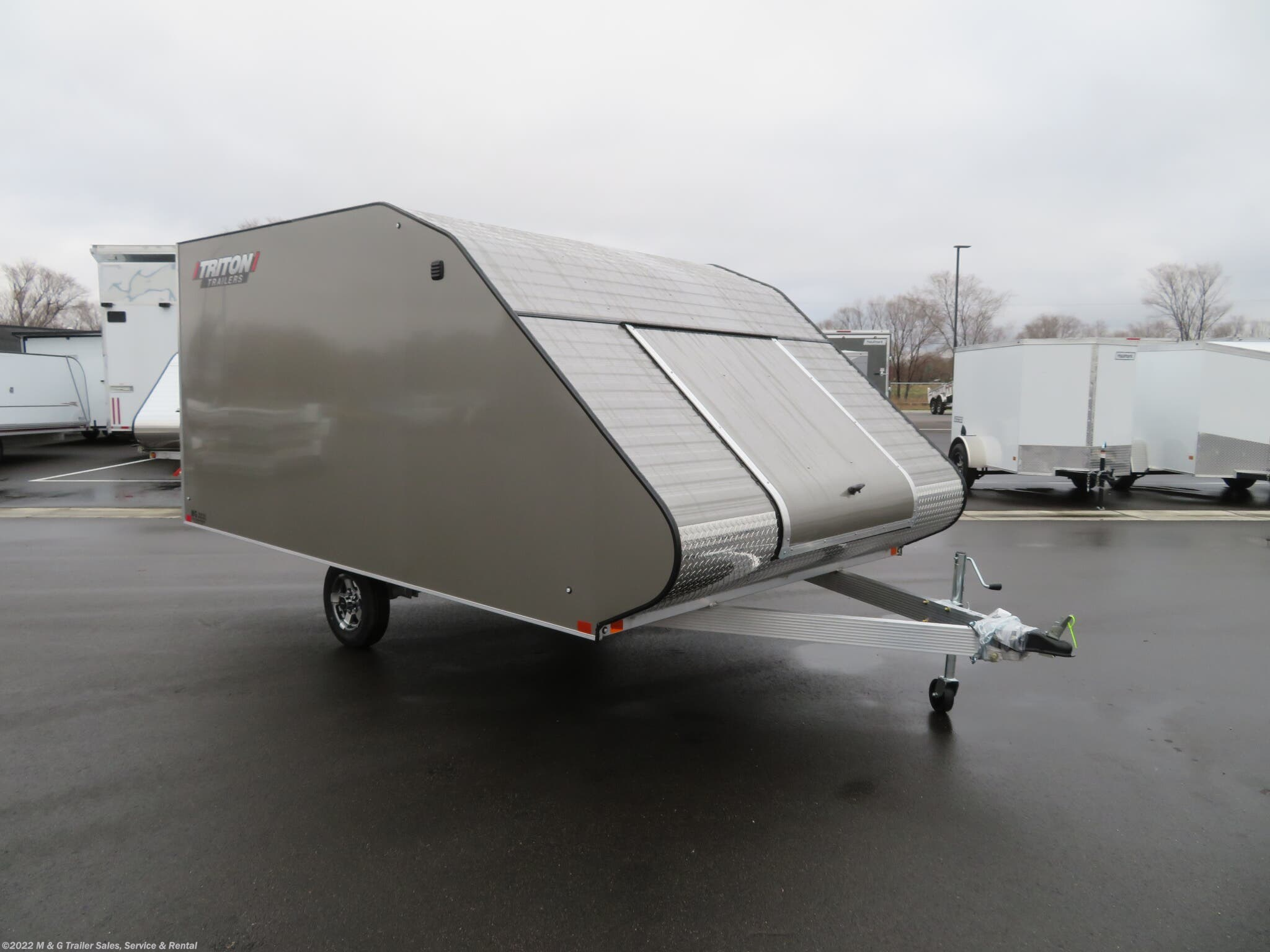 2021 Triton Trailers TC128 Enclosed Snowmobile Trailer - Pewter - Stock #L68972