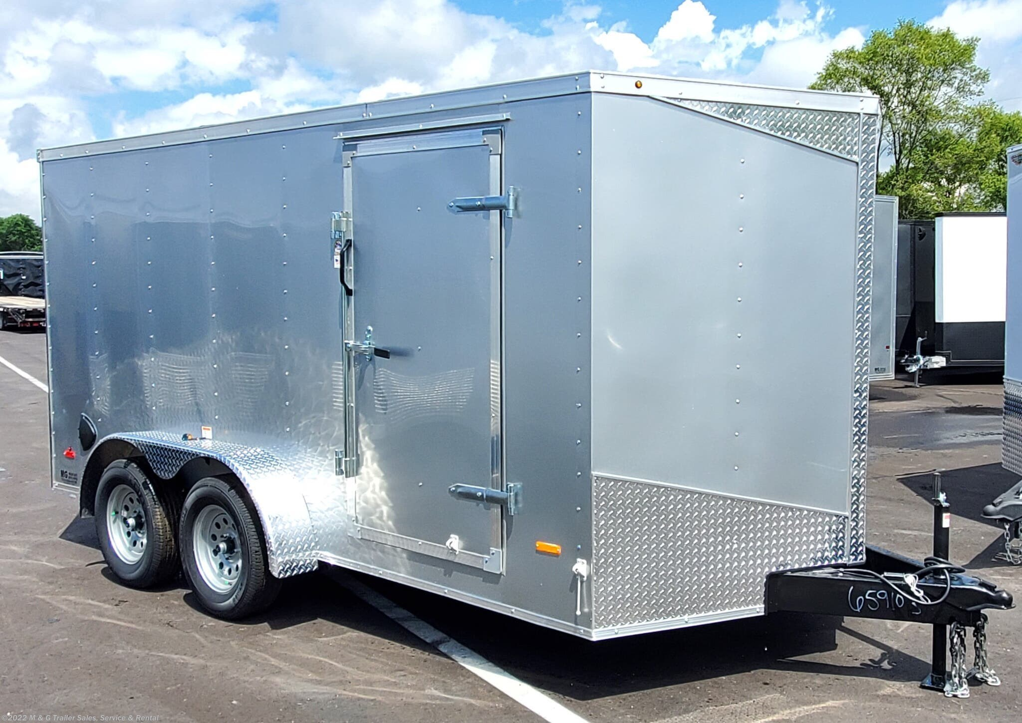 2021 RC Trailers 7x14TA Enclosed 7' Int Cargo - Silver - Stock #659677