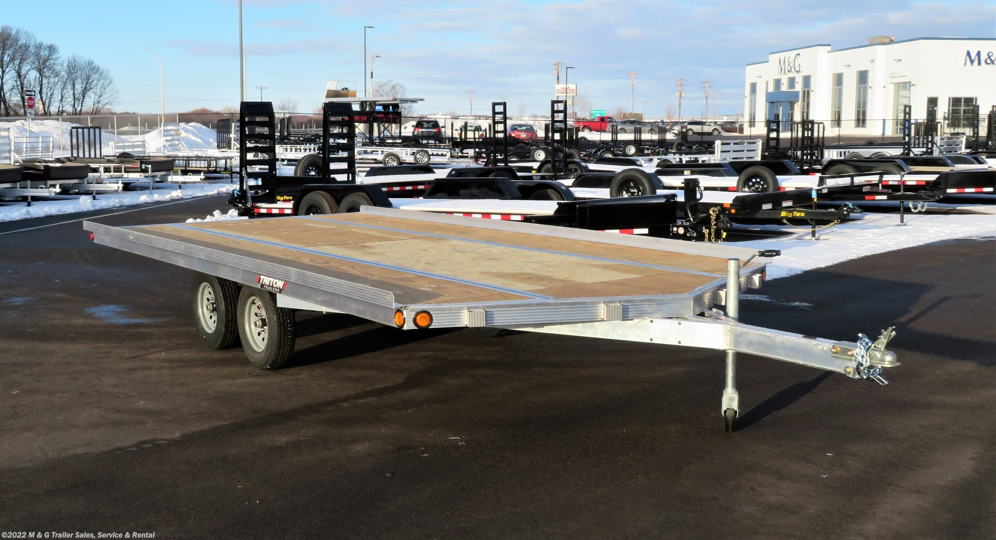 2021 Triton Trailers Elite 16-101 3 Place Snowmobile Trailer - Drive On - Stock #105704