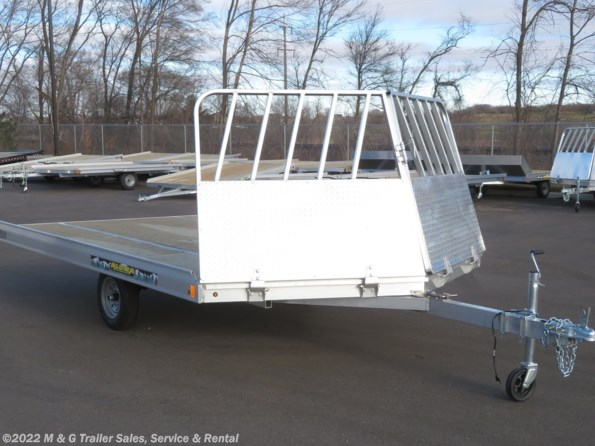 2022 Aluma 8612D/Tilt Aluminum Tilt Bed Snowmobile Trailer available in Ramsey, MN