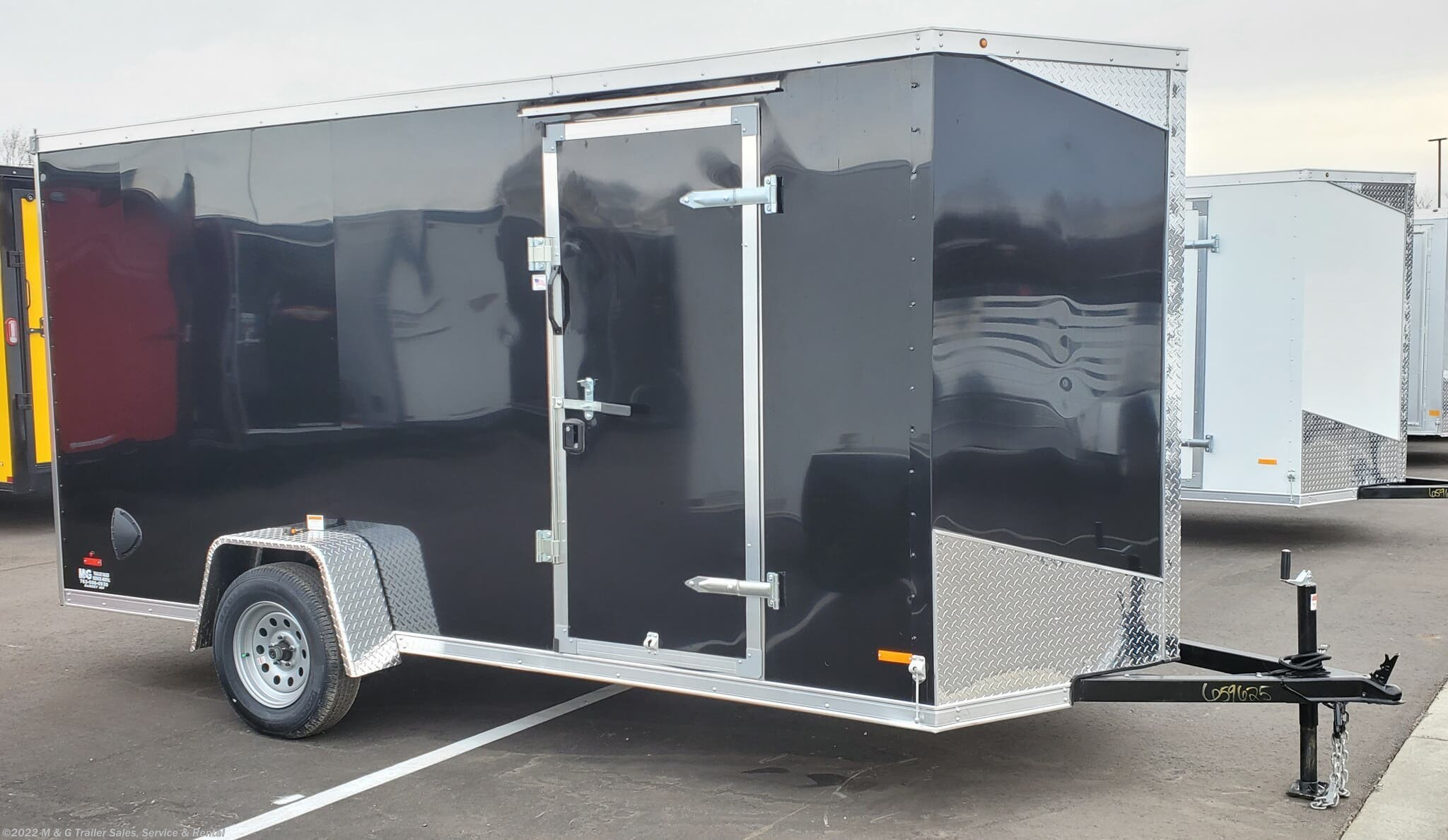 """2021 RC Trailers 6x14SA Enclosed 6'6"""" Int Cargo - Black - Stock #661651"""