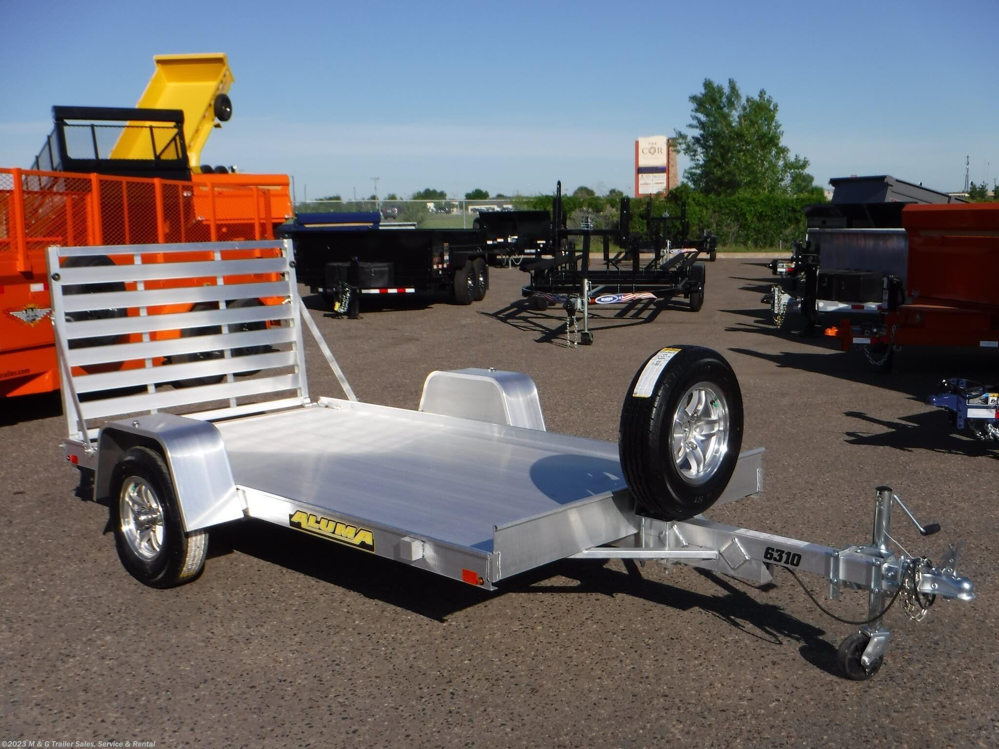 2022 Aluma 6310 LW Aluminum Utility Trailer - Stock #234395