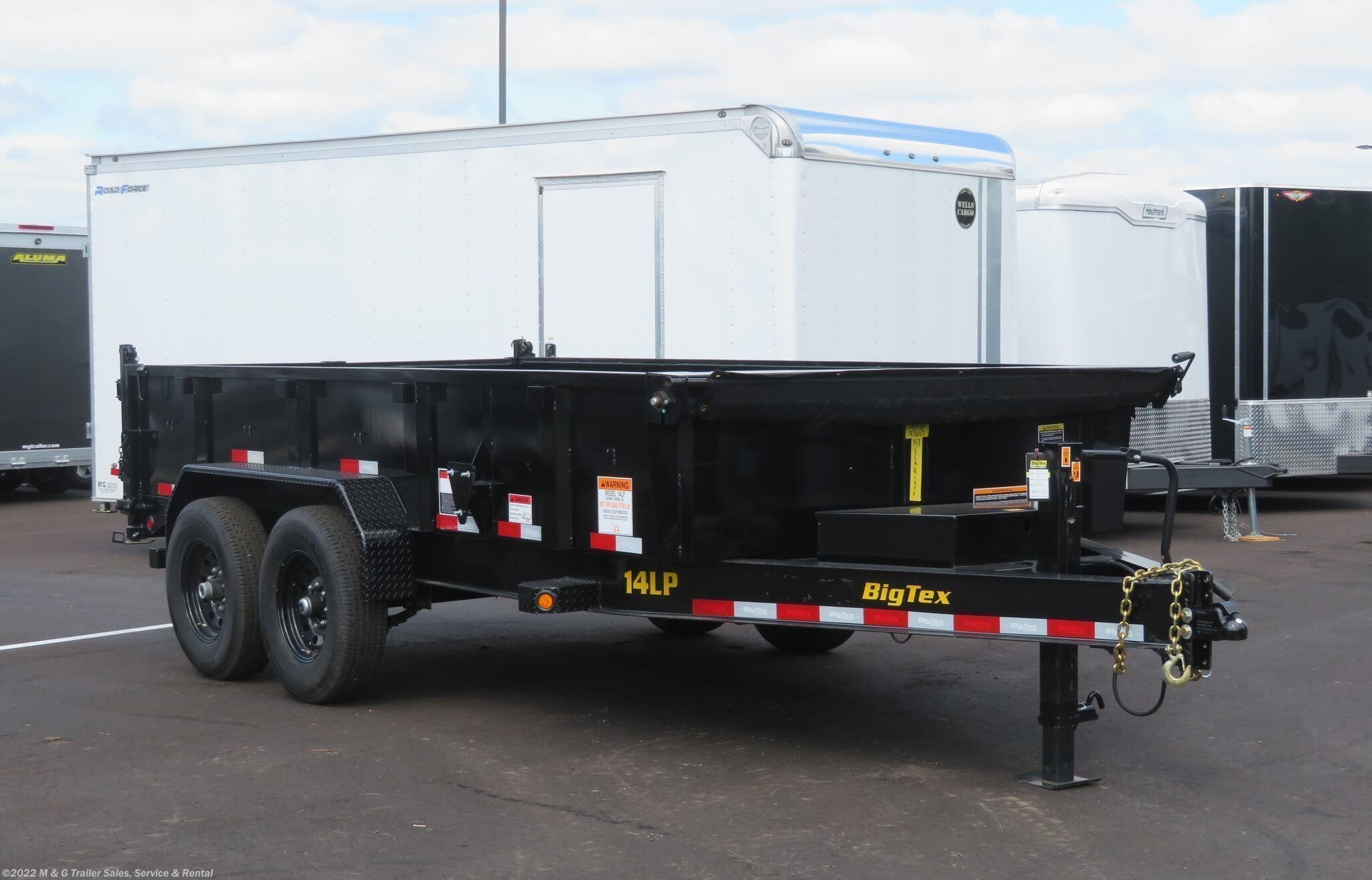 "2021 Big Tex 83""X14' Heavy Duty Dump - Stock #098695"