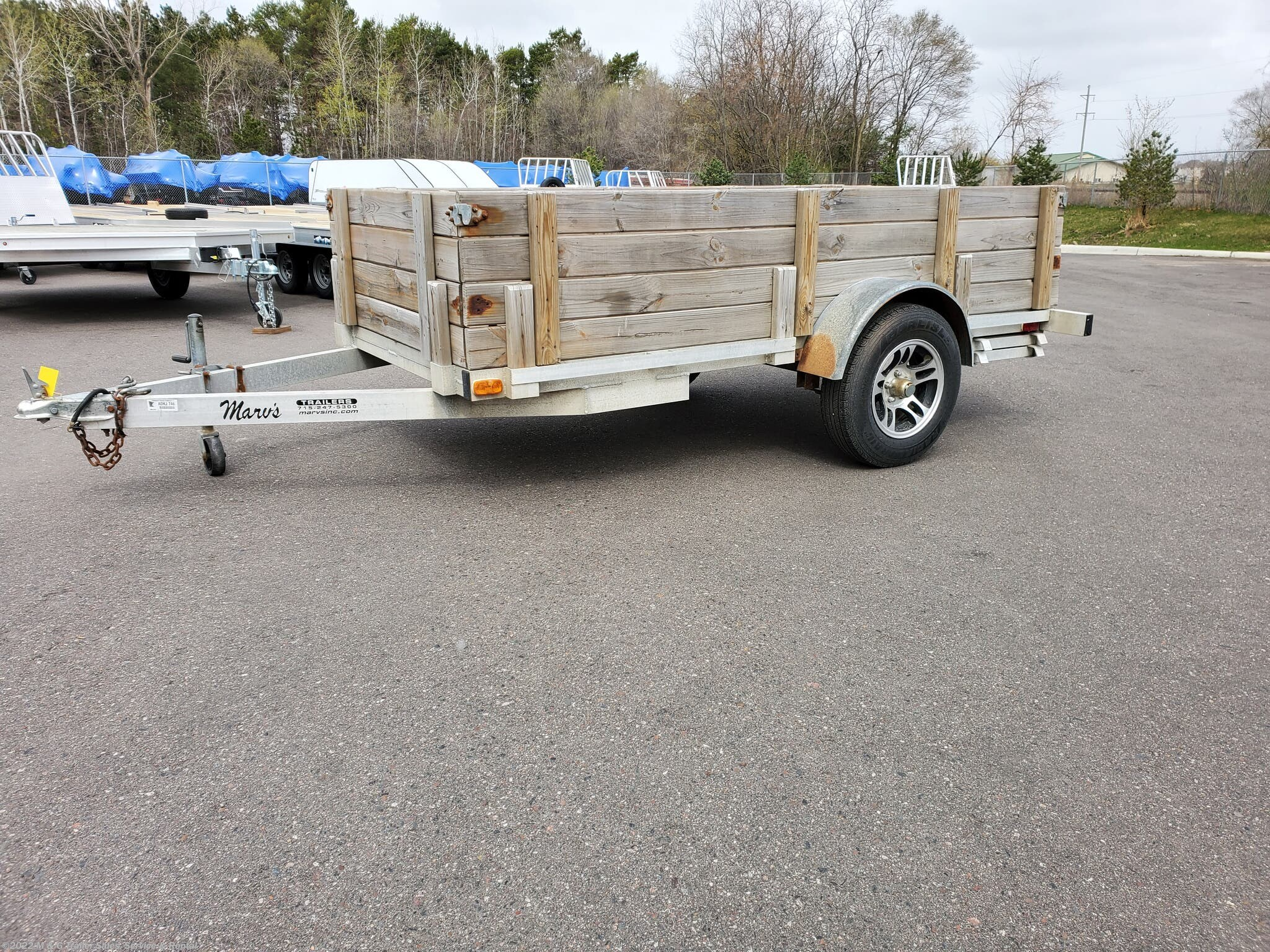 2014 Wolverine 5x10 Aluminum Wood Side - Stock #036588