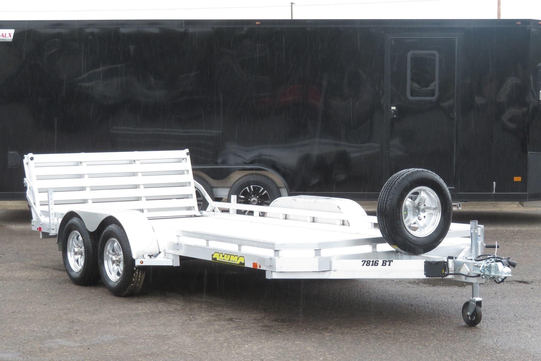 2022 Aluma 7816BT Aluminum Utility Trailer - Stock #239421