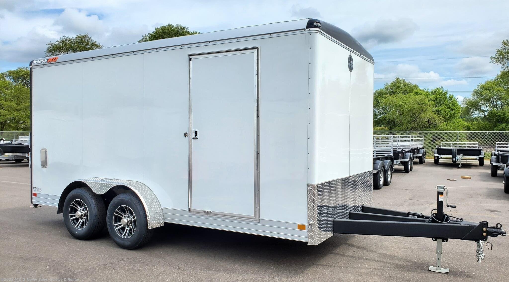 2022 Wells Cargo Wagon HD  7x16 Tandem Axle Cargo Trailer - White - Stock #901694