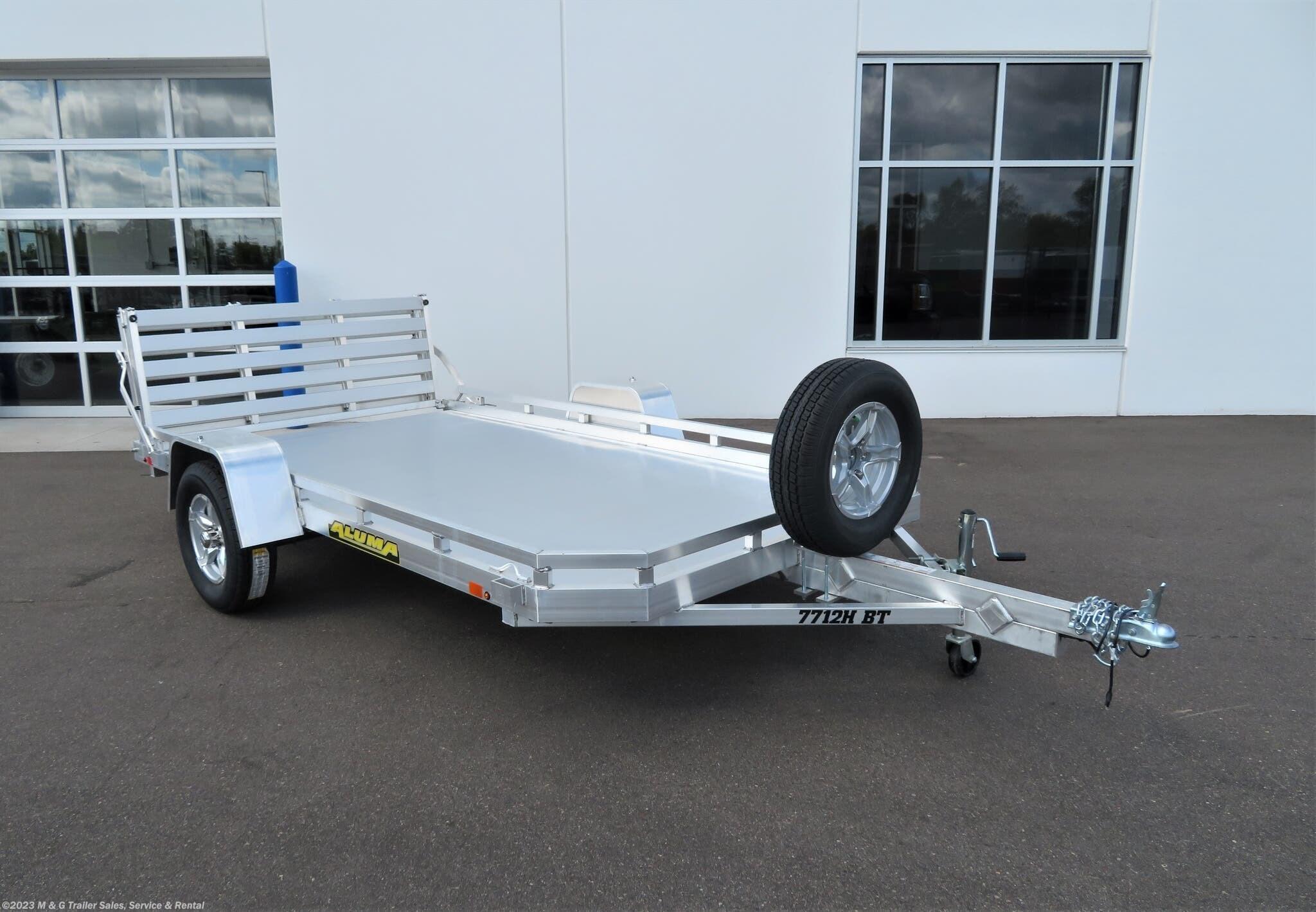 2022 Aluma 7712H BT Aluminum Utility Trailer - Stock #244337