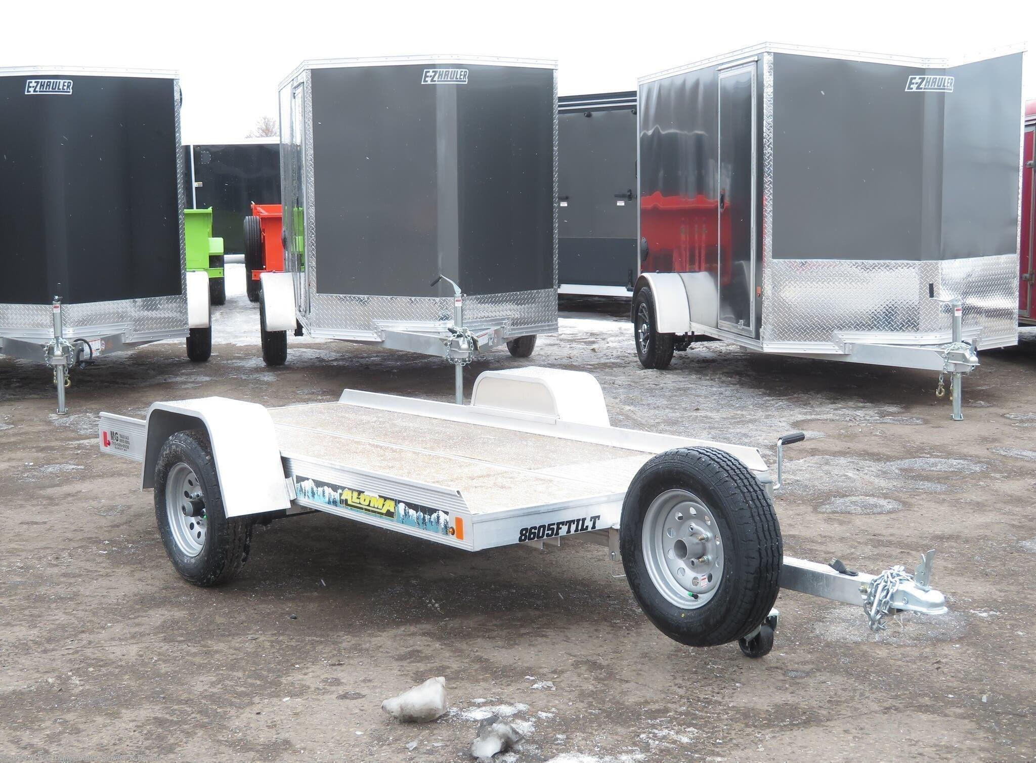 2022 Aluma 8605/13 Tilt Bed Snowmobile Trailer - Stock #243543