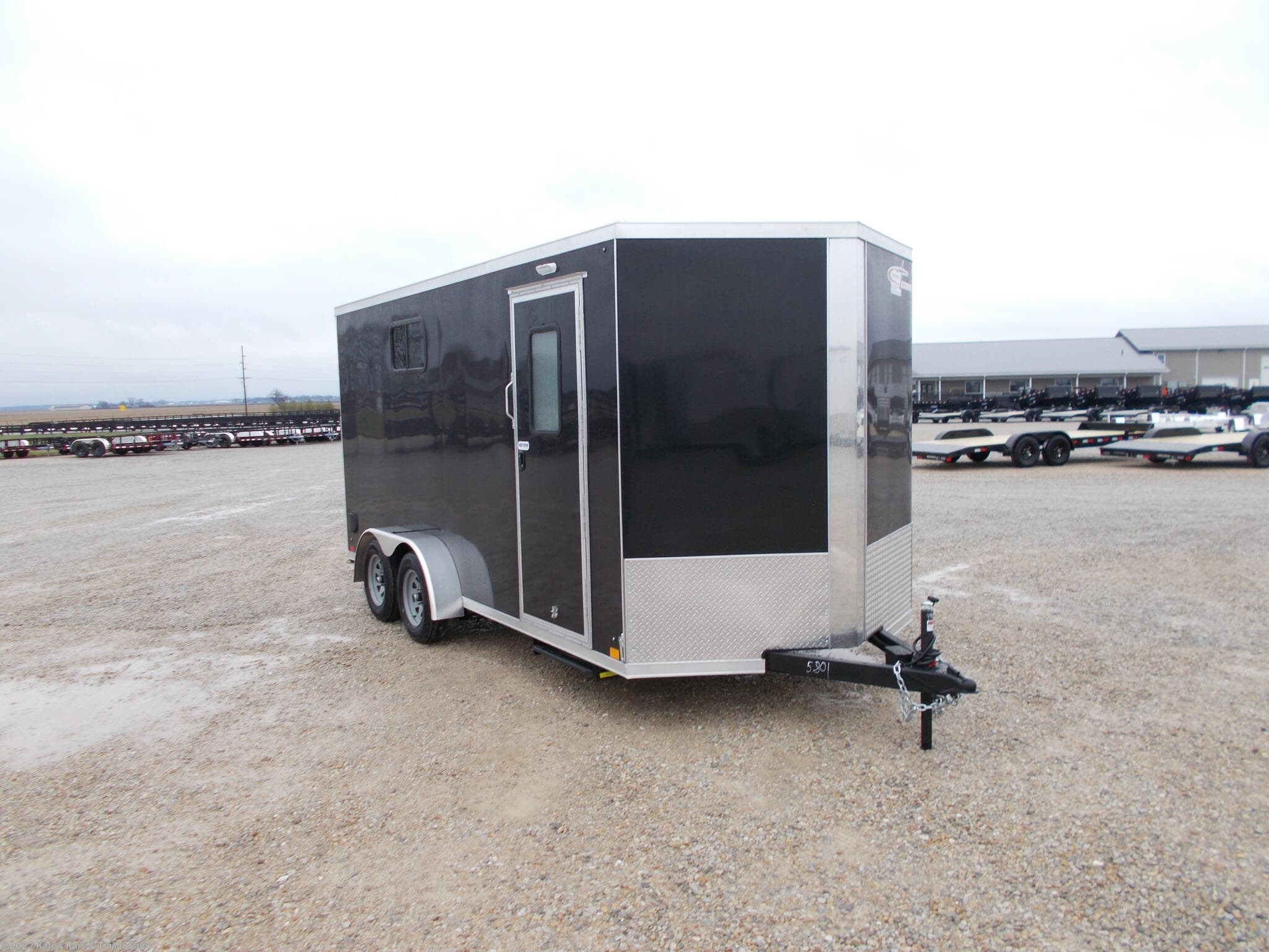 "2021 Cross Trailers 7X16' Enclosed cargo trailer 12"" Add Height - Stock #5801"