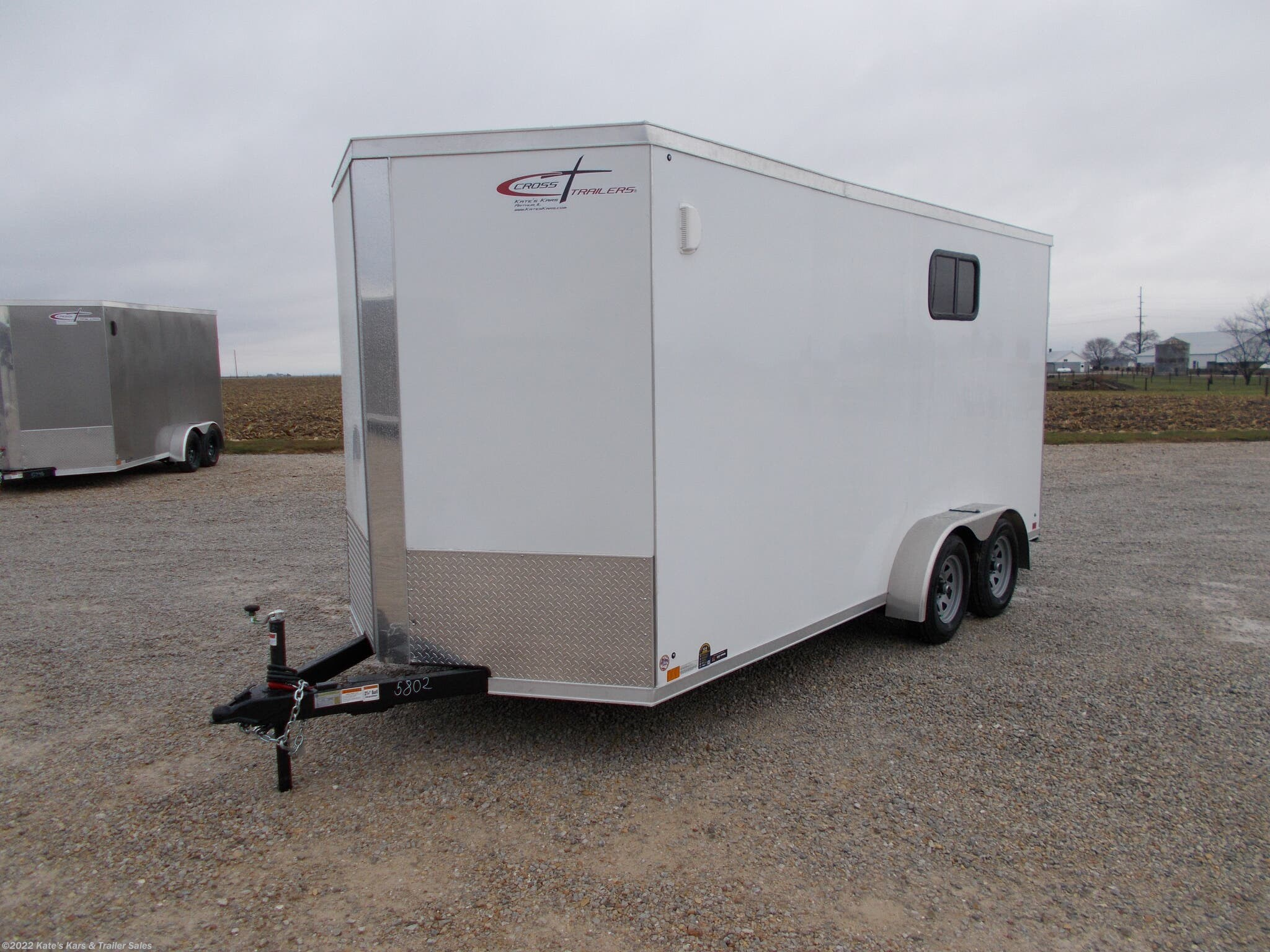 "2021 Cross Trailers 7X16' Enclosed cargo trailer 12"" Add Height - Stock #5802"