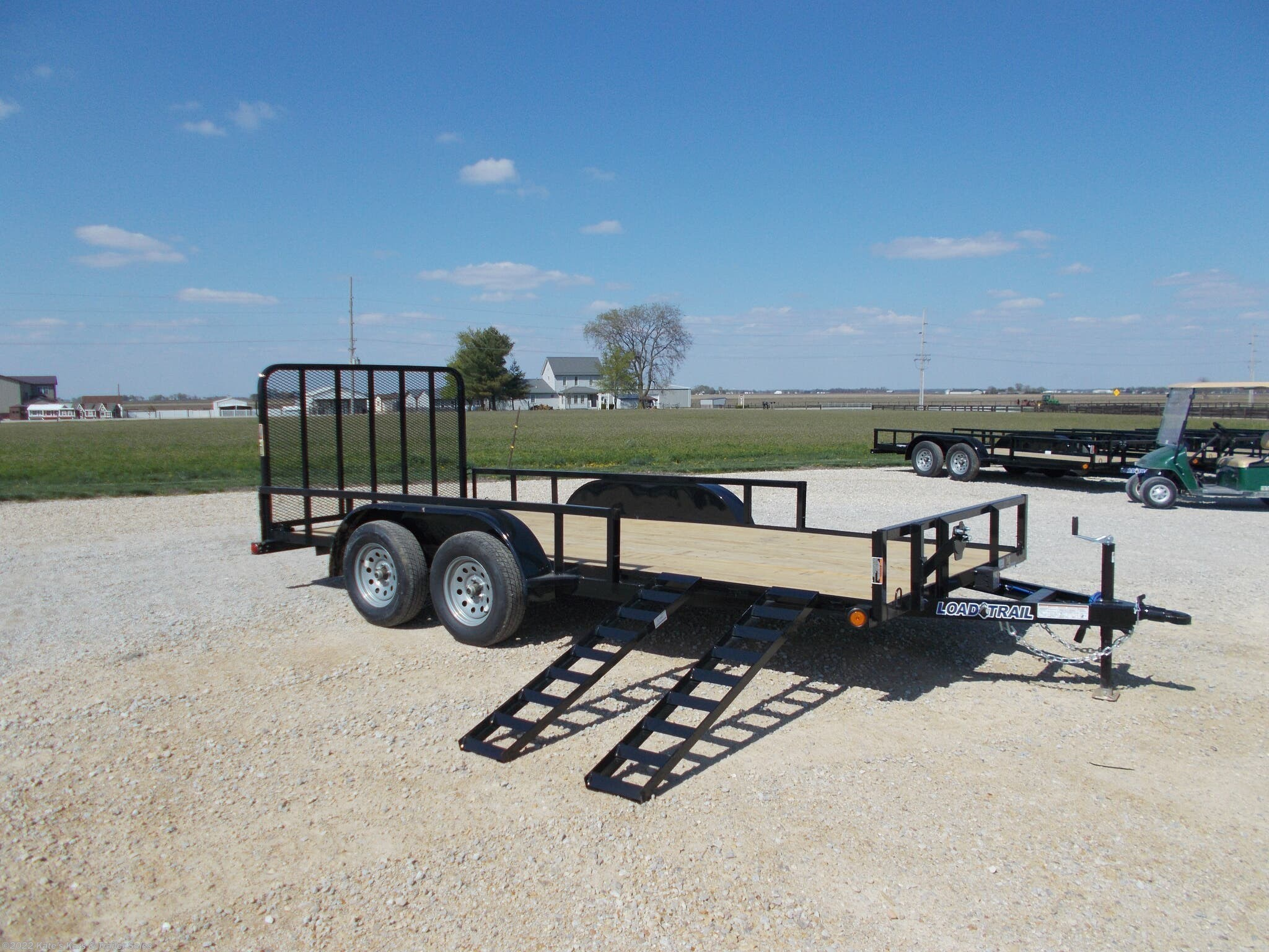 2021 Load Trail 16' Utility Trailer 83X16 Tandem Axle Side Ramps - Stock #6887