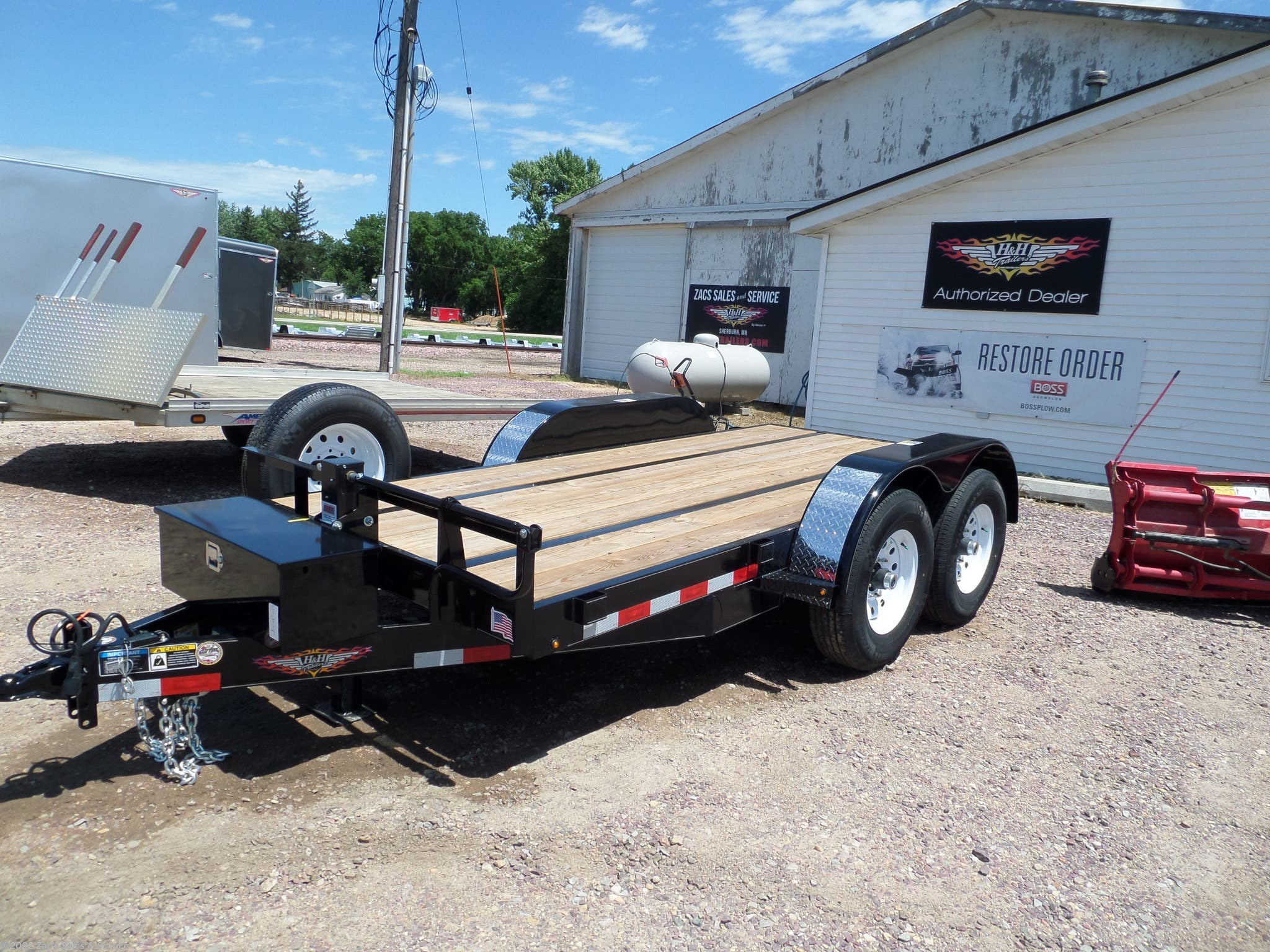 2018 H&H flatbed trailers