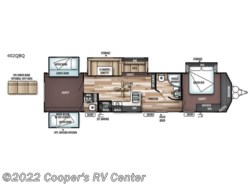 New 2018  Forest River Wildwood DLX 402QBQ by Forest River from Cooper's RV Center in Apollo, PA
