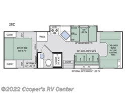 New 2018  Thor Motor Coach Four Winds 28Z by Thor Motor Coach from Cooper's RV Center in Apollo, PA