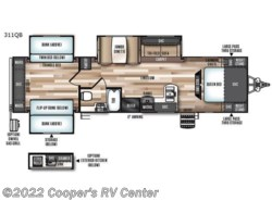 New 2018  Forest River Wildwood Heritage Glen 311QB by Forest River from Cooper's RV Center in Apollo, PA