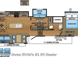 New 2017  Jayco North Point 377RLBH Rear Lounge Two Bedroom Quad Slide by Jayco from White Horse RV Center in Williamstown, NJ