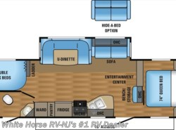 New 2017  Jayco Jay Flight 28BHBE 2-Bedroom Sofa/U-Dinette Slideout by Jayco from White Horse RV Center in Williamstown, NJ