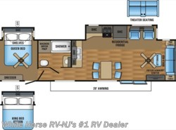 New 2017  Jayco Bungalow 40FSDS Front Sofa Double Slideout by Jayco from White Horse RV Center in Williamstown, NJ