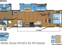 New 2017  Jayco Eagle HT 314BHDS Two Bedroom Double Slideout by Jayco from White Horse RV Center in Williamstown, NJ