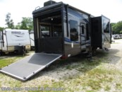 2016 Keystone Fuzion 371 Triple Slide, Rear 11' Garage w/ Patio Deck