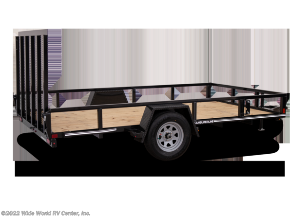 2021 CAM Superline STP7212TA-B-030 6 x 12 Tube Top Landscape/Utility trailer available in Wilkes-Barre, PA
