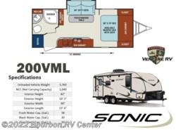 New 2017  Venture RV Sonic SN200VML by Venture RV from Bourbon RV Center in Bourbon, MO