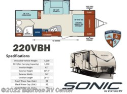 New 2017  Venture RV Sonic SN220VBH by Venture RV from Bourbon RV Center in Bourbon, MO