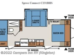 Used 2014  K-Z Spree Connect 231bhs by K-Z from Campers Inn RV in Kingston, NH