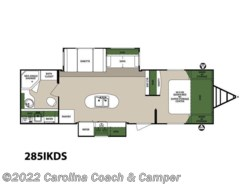 New 2017  Forest River Surveyor Couples Coach 285IKDS by Forest River from Carolina Coach & Marine in Claremont, NC
