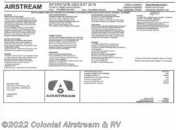 New 2018  Airstream Interstate Grand Tour EXT AS J by Airstream from Colonial Airstream & RV in Lakewood, NJ