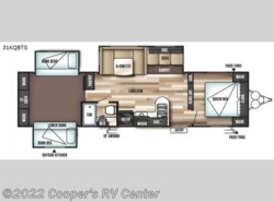 New 2018  Forest River Wildwood 31KQBTS by Forest River from Cooper's RV Center in Murrysville, PA
