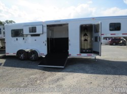 New 2018  Exiss Gooseneck 2 + 1 GN STRAIGHT LOAD w/tack room by Exiss from Crossroads Trailer Sales, Inc. in Newfield, NJ