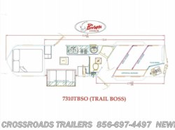 New 2017  Bison Trail Boss 7310 LIVING QUARTER by Bison from Crossroads Trailer Sales, Inc. in Newfield, NJ