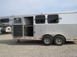 Used 2001  Adam  3 HORSE SLANT LOAD W/DR by Adam from Crossroads Trailer Sales, Inc. in Newfield, NJ