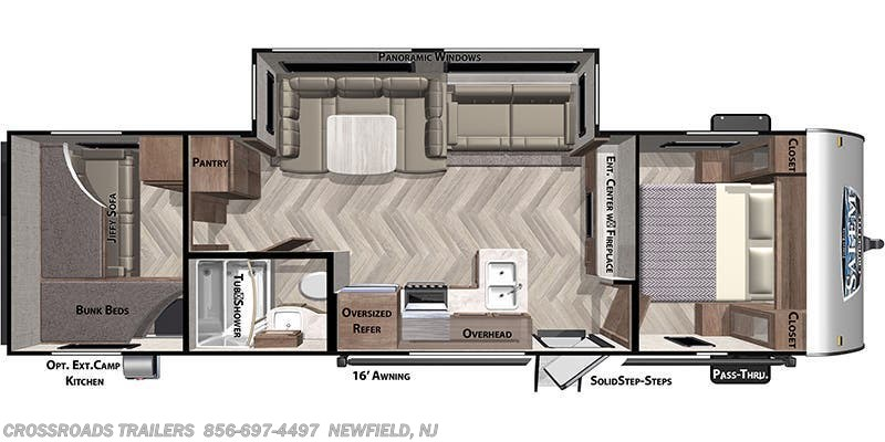 2020 Forest River Salem Cruise Lite 273QBXL floorplan image